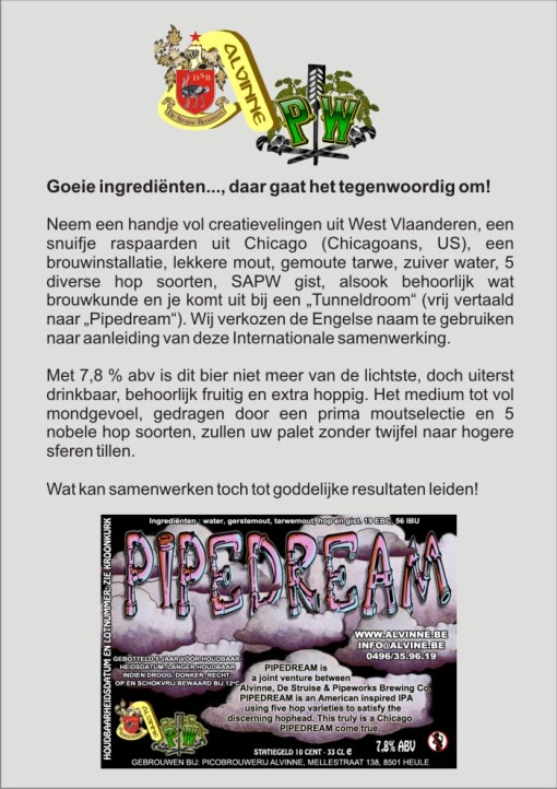 Pipe Dream, een West-Vlaams-Amerikaans hopbommetje